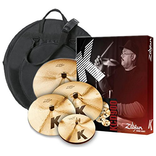 Zildjian KCD900 K CUSTOM DARK 5 PC BOX SET with Cymbal Bag (Box Sets Zildjian)