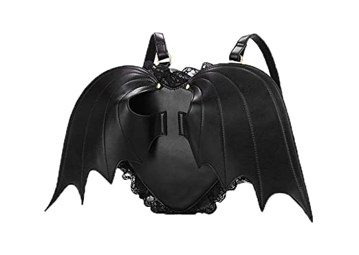 Amazon.com   Coofit Backpack for Girls Bat Wings PU Leather ...