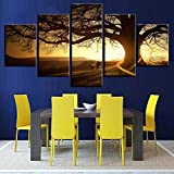 Decorative Mixed Media 5Piece Canvas Painting Set - Nature