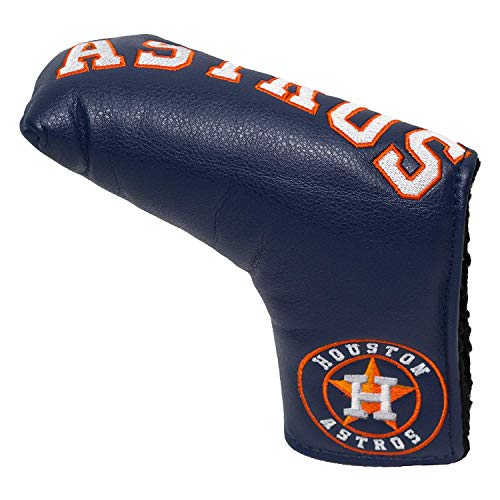 Team Golf MLB Houston Astros Golf Club Vintage Blade Putter Headcover, Form Fitting Design, Fits Scotty Cameron, Taylormade, Odyssey, Titleist, Ping, Callaway