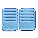 Adouiry 10 pcs Wet Microfiber Mopping Cloths for iRobot Braava 380 380t 320 Mint 5200C 5200 4200 4205 Vacuum Cleaner