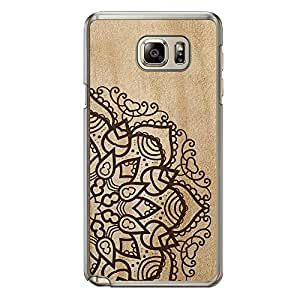 Loud Universe Samsung Galaxy Note 5 Madala N Marble A Madala 4 Printed Transparent Edge Case - Beige