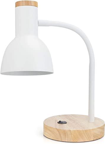 Pinsoon Led Desk Lamp With Flexible Goose Neck 2 Bulb Energy Saving For Bedside Table Bedroom Study And Office Amazon Com