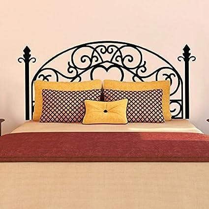 Amazon.com: Bed Grill Style Vinyl Wall Decal - Modern Headboard Wall ...
