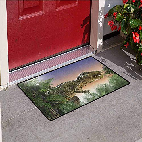 Gloria Johnson Jurassic Universal Door mat Dinosaur in The
