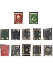 TOYANDONA 12pcs Miniatures Dollhouse Book Timeless Mini Books Notebook Model Dollhouse Decoration Accessories for Dollhouse Study Room Supplies