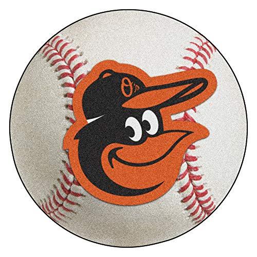 Baltimore Orioles Baseball Rug Mat - FANMATS 15173 MLB Baltimore Orioles Baseball Mat
