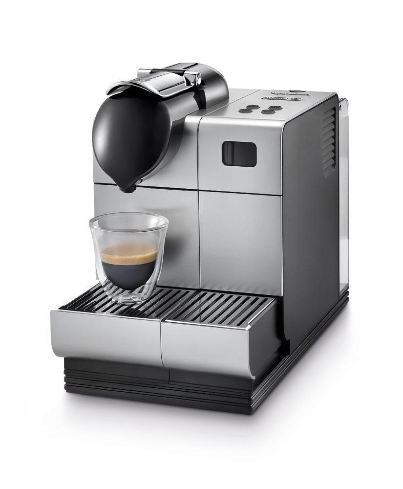 delonghi silver lattissima plus nespresso capsule system combination coffee. Black Bedroom Furniture Sets. Home Design Ideas