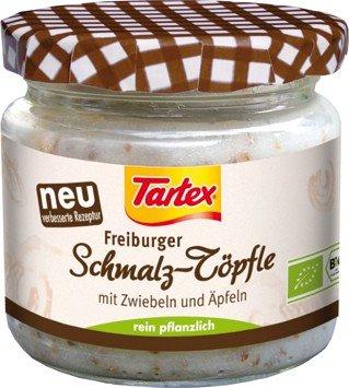 Tartex Freiburger Schmalz-Töpfle mit Zwiebeln & Äpfeln (150 g) - Bio