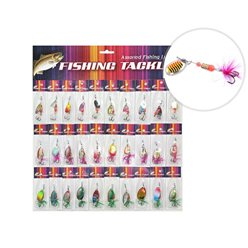 l Fishing Lures Crankbait Spinner Baits Assorted Fish Hooks Tackle For Pike Trout Salmon Bass (Fish Hook Bait)