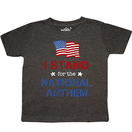 inktastic - Stand for The Anthem Toddler T-Shirt 4T Retro Heather (4120 Stand)