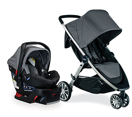 Britax Travel System - B-Lively Stroller & B-Safe 35 Infant Car Seat - 4 to 55 Pounds, Dove (Best Baby Car Seat And Stroller 2017)