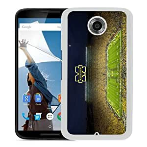 Fashionable Google Nexus 6 Case,Ncaa Michigan Wolverines 16 White Customized Case For Google Nexus 6 Case