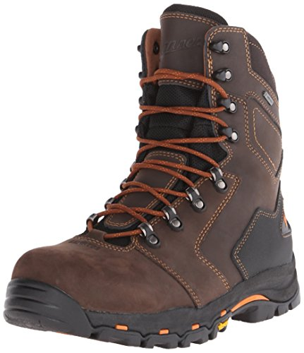 Danner Men's Vicious 8 Inch NMT Work Boot,Brown/Orange,12 D US