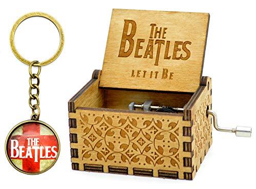 Sooye Colección de Fans Caja de Música Beatles- 18 Notas Manivela Caja de Música Movimiento Mecánico (Beatles)