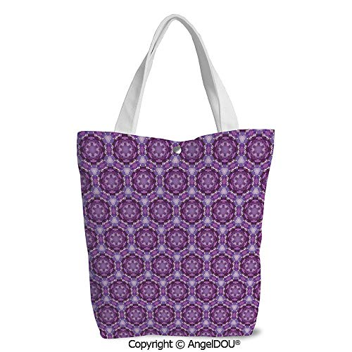 Girls Casual printed DIY Canvas Shoulder Bags Fractal Primitive Mosaic Style Ins