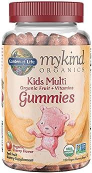 Garden of Life - mykind Organics Kids Gummy Vitamins - Cherry - Certified Organic, Non-GMO & Vegan Complet