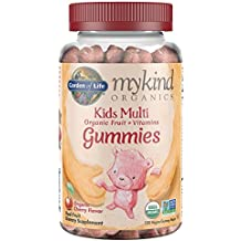 Garden of Life Gummy Vitamin for Kids - mykind Organics Gummy Multivitamin for Kids, 120 Count Certified Organic Fruit Chews