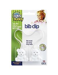 Baby Buddy Bib Clip, White, 1-Pack