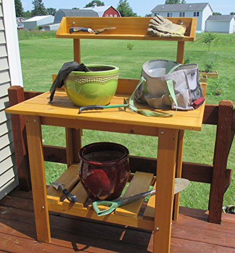 potting bench cedar - 5