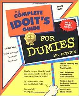Image result for complete idiots guide images