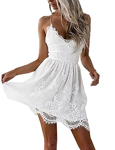 Women's Backless Mini Dress White - 8