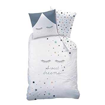 Sterne Mädchen Bettwäsche Set Sweet Dreams Wende Motiv Mit