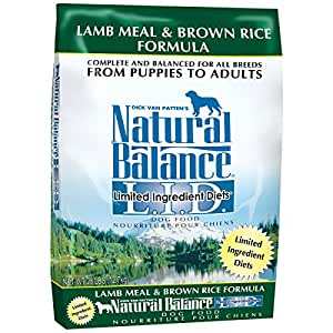 Natural Balance Dog Food Coupons >> Natural Balance L.I.D. Limited Ingredient Diets Lamb Meal & Brown Rice Formula Dry Dog Food, 28 ...