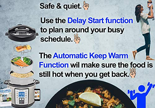 Total Package 9-in-1 Instant Multi-Use Programmable Pressure Cooker, Deluxe Accessory Kit & Recipes. Pressure Cook, Slow Cook, Sauté, Egg, Rice Cooker, Yogurt, Steamer, Hot Pot by Yedi Houseware (6Qt) by Yedi Houseware (Image #4)