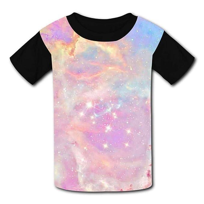 8a2772b7ce4c Amazon.com  Starry Sky Children s Summer Short Sleeve Printing T-Shirts   Clothing
