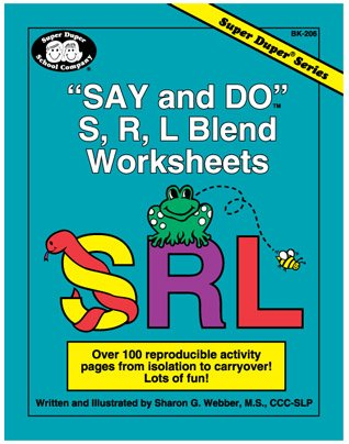 Say And Do S R L Blend Worksheets Over 100 Reproducible Activity