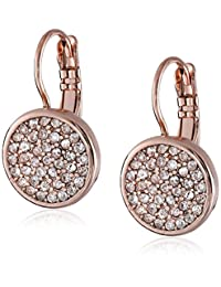 """Anne Klein """"Flawless"""" Rose Gold Crystal Pave Drop Earrings"""