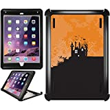 OtterBox iPad Air 2 Black Defender Series Case with Halloween Haunted House Design by Coveroo