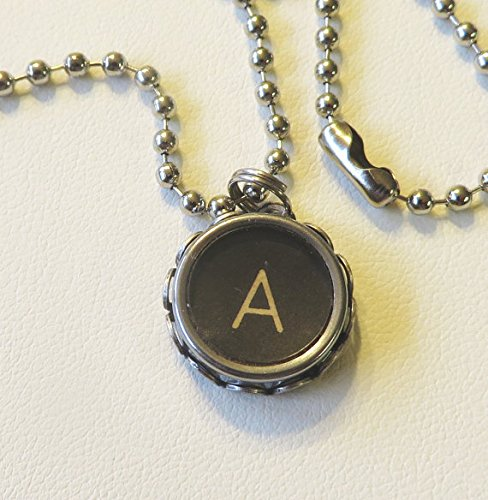 antique typewriter key necklace pendant