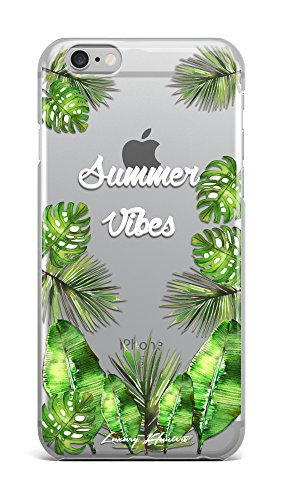 Summer vibes palm tree / banana tree leaf plastic transparent see through case / cover for Apple Iphone design made by LuxuryHunters ® (Iphone 6 & 6s)
