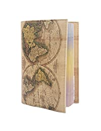 Amazon passport covers luggage bags eco leather passport cover for travel documents holder designer case men women world map gumiabroncs Image collections