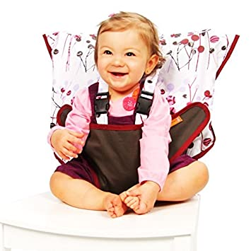 5ac5989650b9 Amazon.com   My Little Seat Travel Highchair Pocket Full of Posies    Childrens Highchairs   Baby