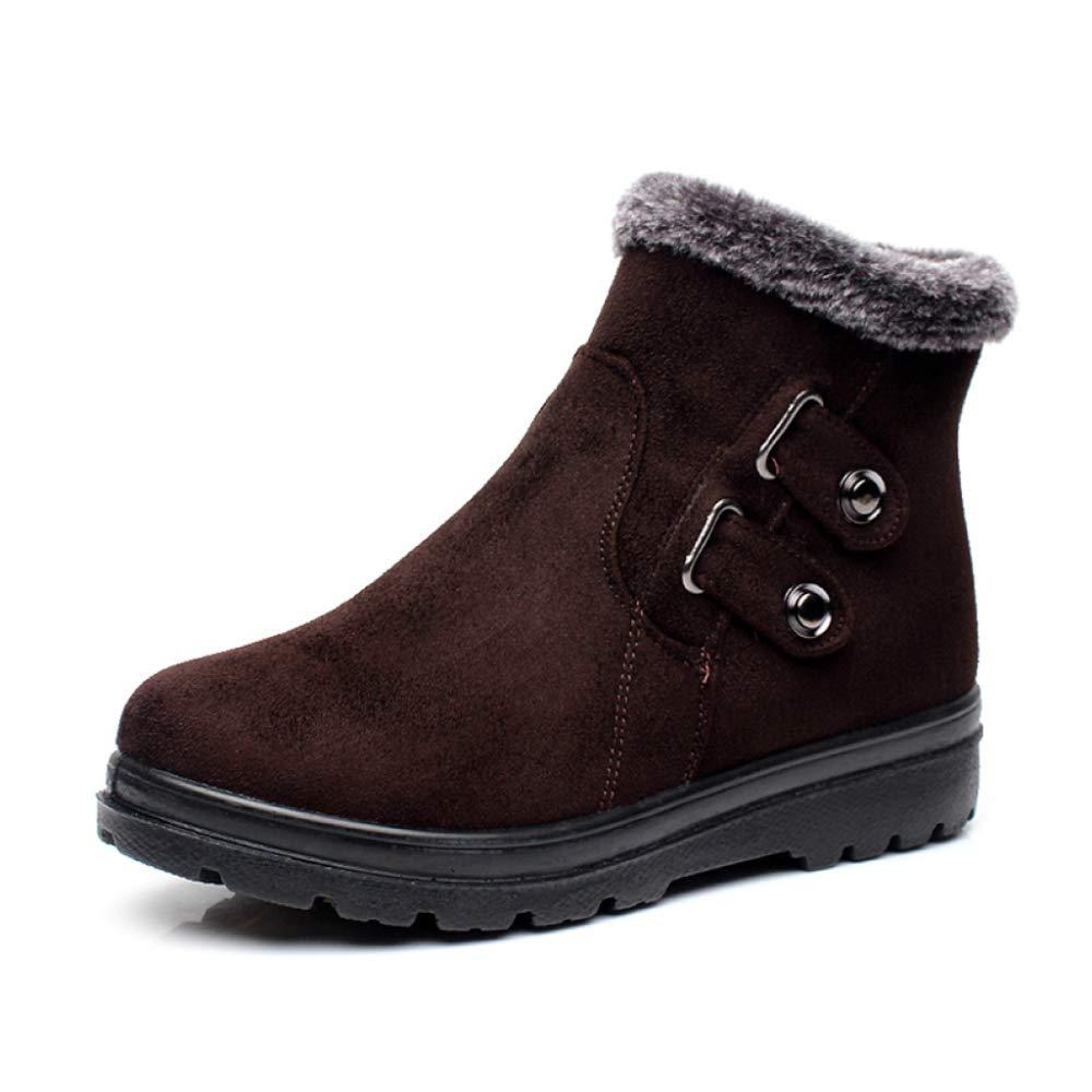 Schnee Stiefel Frauen Winter Warm Wildleder Wasserdichte Wanderschuhe Reißverschluss Rutschfeste Stiefel Outdoor Plüsch
