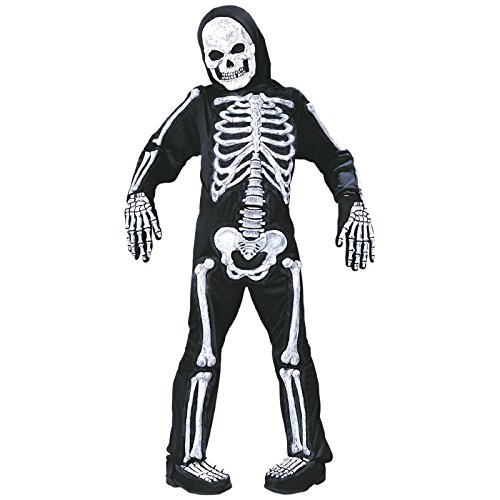 Totally Ghoul Totally Skelebones Costume, Boys size Medium, 8-10 (Skeleton Costume Boy)