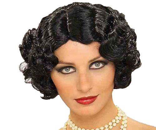 Forum Flapper Wig, Black, One Size - Betty Boop Wig