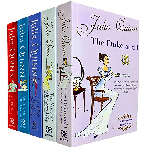 Julia Quinn Bridgerton Family Series 1- 5 Books Collection Set