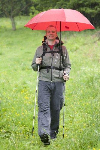 Euroschirm - Swing Handsfree - Parapluie de trekking - Argent Front Swing Shaft