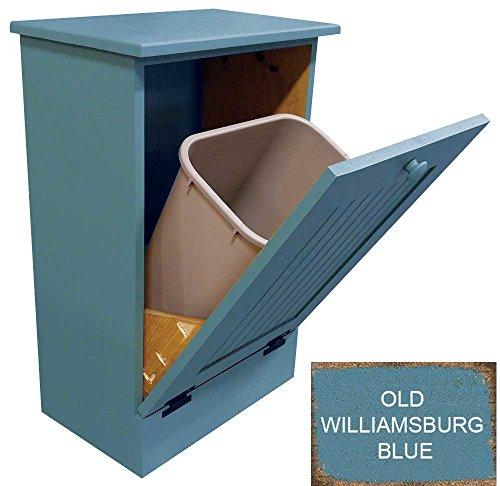 Tilt-Out Wooden Trash/Recycle Bin Holder (Old Williamsbur...