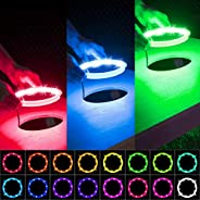 Electop Upgrade Cornhole LED Lights (2 Sets), Ultra Bright Board Corn Hole Lights, 16 Color Changing with Remo