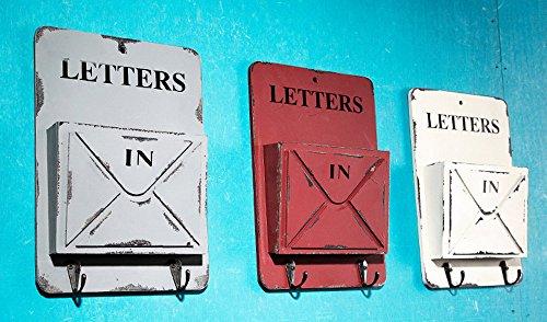 RedBeana Iron Wall Key Rack Holder Hooks Letter Holder Home Decor (Red, 26cm(H) x 18cm(W)x 4cm (D)) from RedBeana