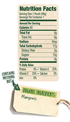 Sprout Organic Baby Food Stage 1 Pouches, Mango, 12 Count