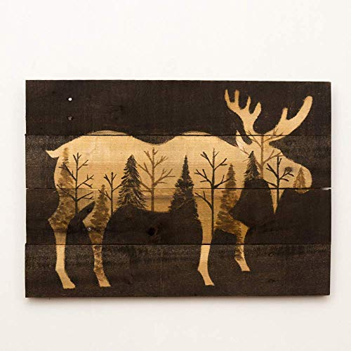 Moose painting on Pallet wood 14