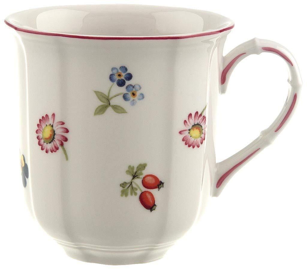 Villeroy & Boch Petite Fleur Taza, 300 ml, Altura: 9 cm, Porcelana Premium, Blanco/Multicolor: Amazon.es: Hogar