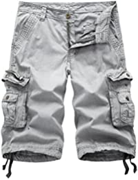 Men's Cotton Twill Cargo Shorts Outdoor Wear Lightweight