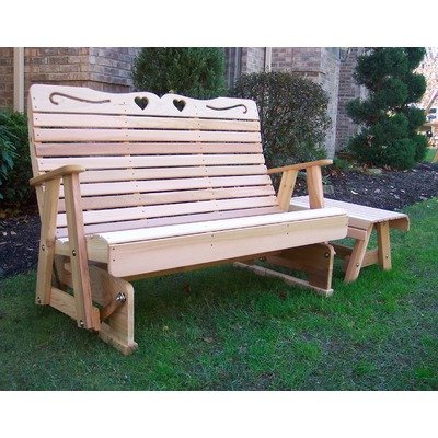 Cedar Royal Country Hearts Rocking Glider 5Ft